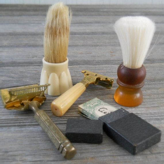 Shaving Brush Razor Vintage Shaving Instant Collection