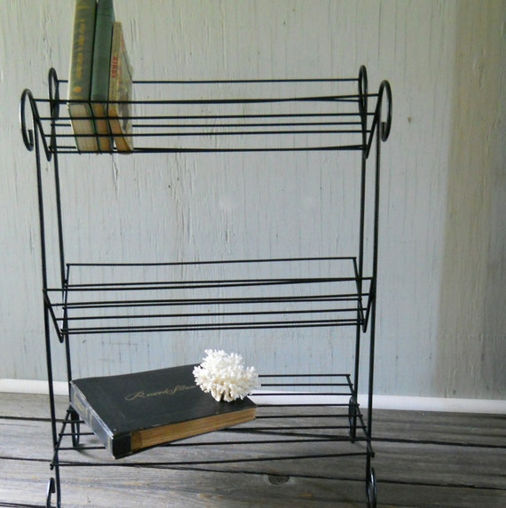 Wire Table Mid Century Modern Metal Wire Stand Table Book Case