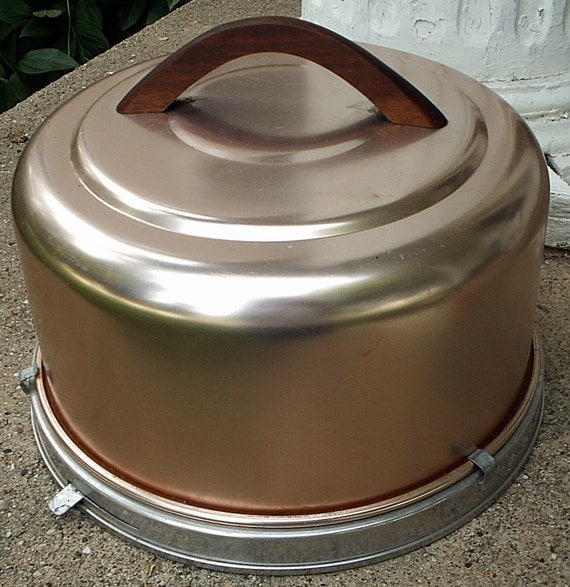 Vintage Mirro Cake Carrier Copper Color By Lisabretrostyle2