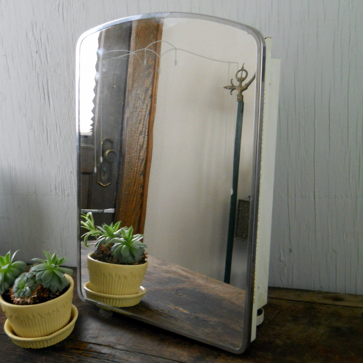 vintage homart sears and roebuck medicine cabinet with mirror