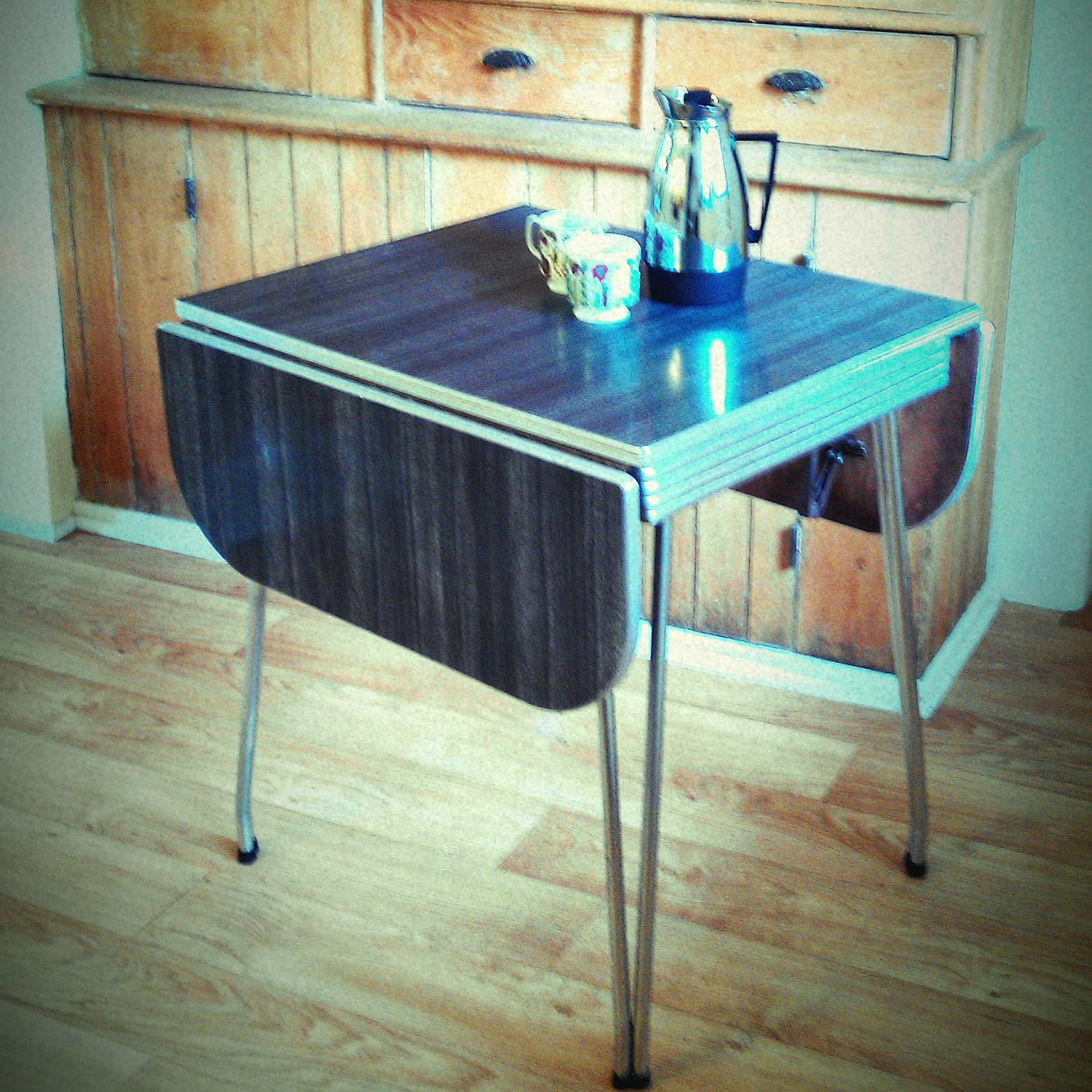 Vintage formica top kitchen table by lisabretrostyle2 on etsy - Formica top kitchen tables ...