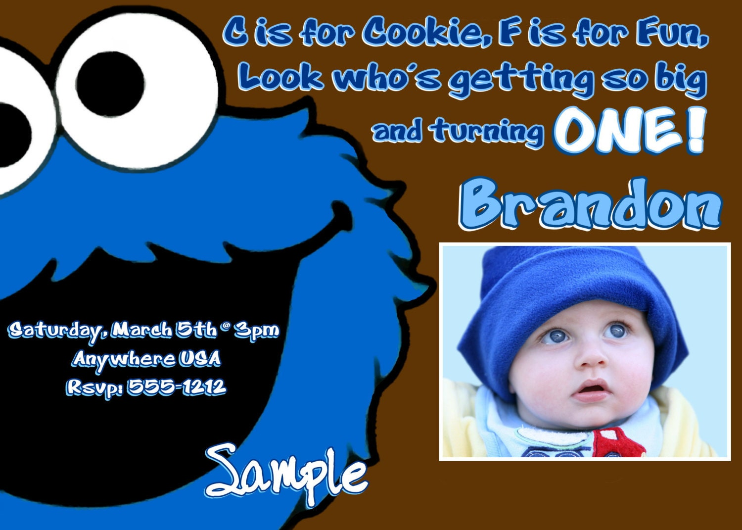 Cookie Monster Birthday Invitations could be nice ideas for your invitation template