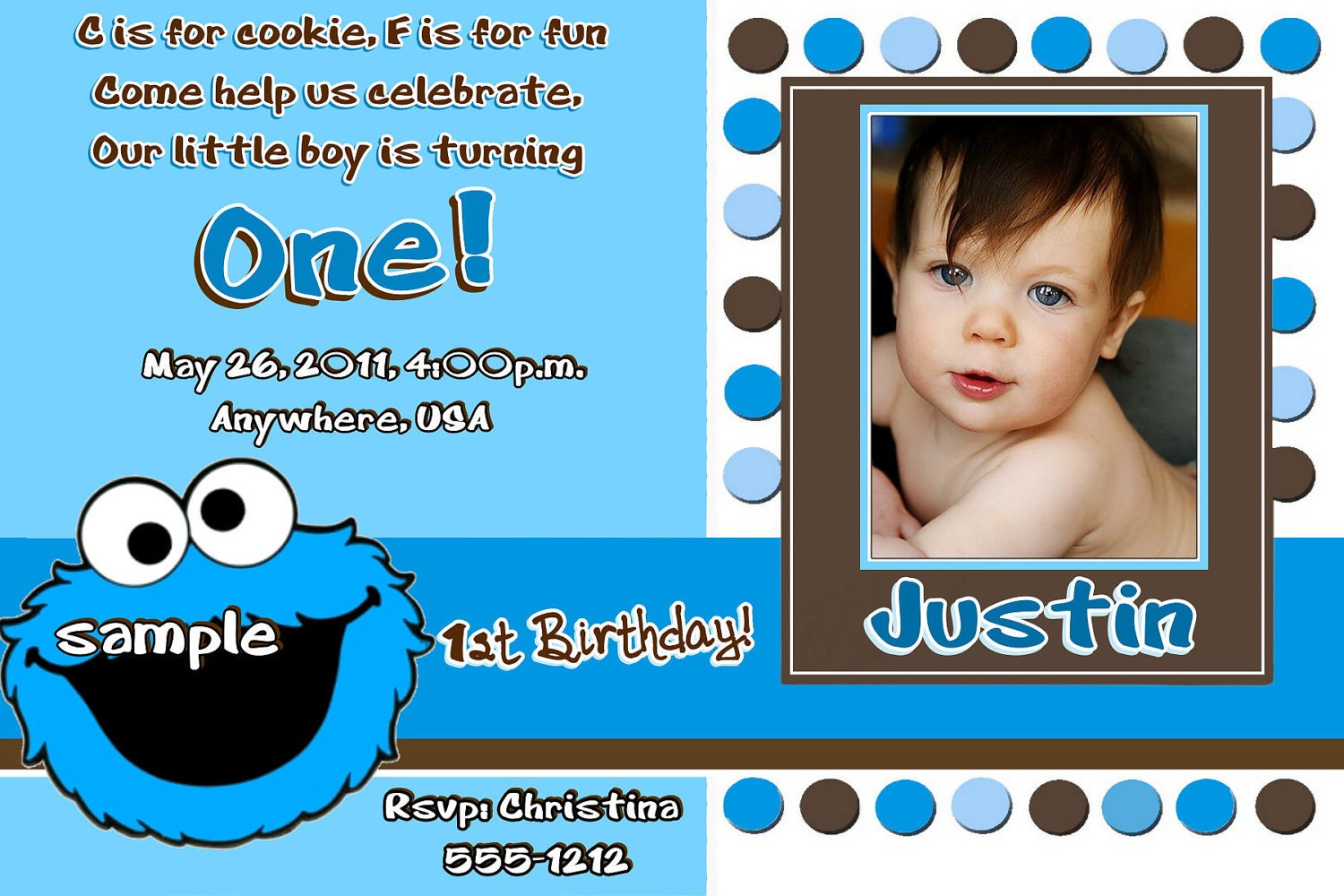 Cookie Monster Birthday Invitations can inspire you to create best invitation template