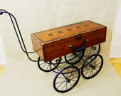 SALE - coffee table - tea cart - BUGGY CART - recycled materials - Reclaim2Fame