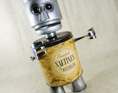 Robot Assemblage - CRACKERS - found object sculpture - Reclaim2Fame