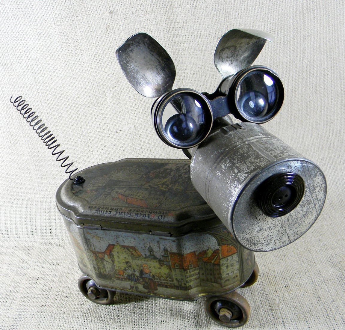 found object GINGER Assemblage Sculpture by reclaim2fame