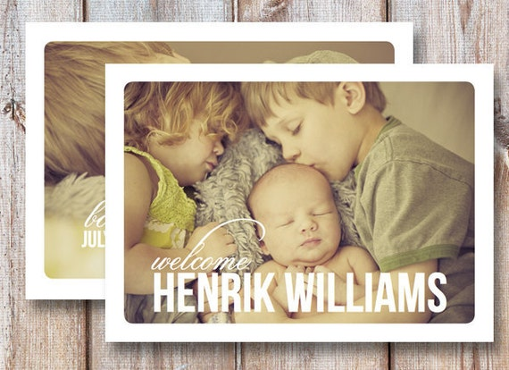 "Reserved Item for Linde - 5""x7"" Birth Announcement Digital File"