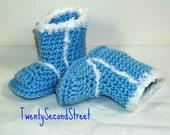 Baby Booties Baby Blue Snow Booties