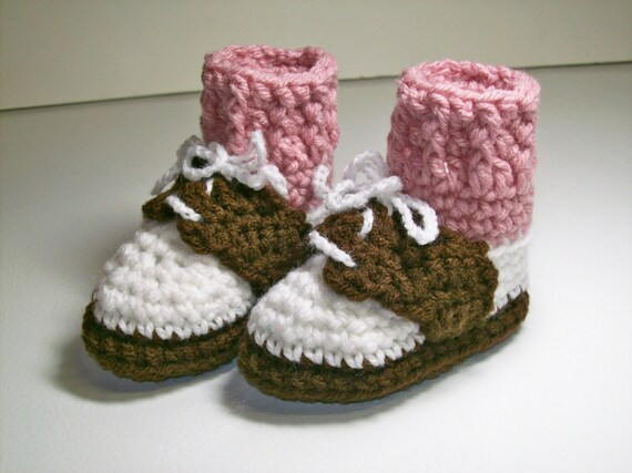 Saddle Shoes Booties  -  Rose Socks -  PLEASE STATE SIZE
