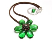 Forest Flower Pendant Necklace