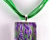 Glass Tile Pendant-Lavender Field