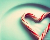SALE - the nicest present - candy cane heart photograph - original fine art 5x7 print