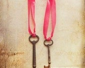 my heart, my soul - antique keys photograph - original fine art METALLIC