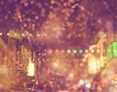 San Francisco photography, rainy night, North Beach photo print bokeh dreamy surreal, Italian, romantic, cafes restaurant bar
