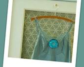 Lingerie: Vintage Slip Hand-dyed Aqua Mint
