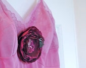 Lingerie: Vintage Slip Hand Dyed in Pale Orchid Purple (M)