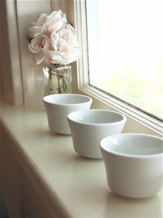 Vintage Mise En Place Bowls -- Whiteware