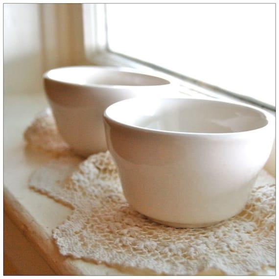 SALE Vintage Mise En Place Bowls -- Whiteware
