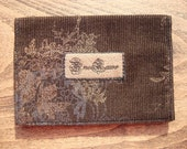 Brown Corduroy Card Case