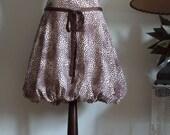 Baloon skirt, puffy skirt, Vanilla cream with chocolate brown, spring summer skirt, streetwear skirt, avant garde clothing women teens