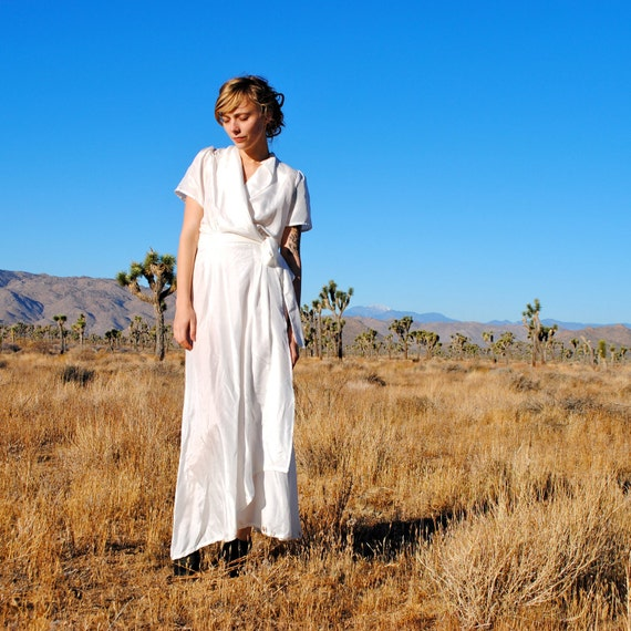 Organic Silk House Robe- Peace Silk