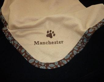 Pet Blanket.Personalized Pet Blanket. Dog Blanket. Cat Blanket. Fleece Pet Blanket. Brown Circles Pet Blanket