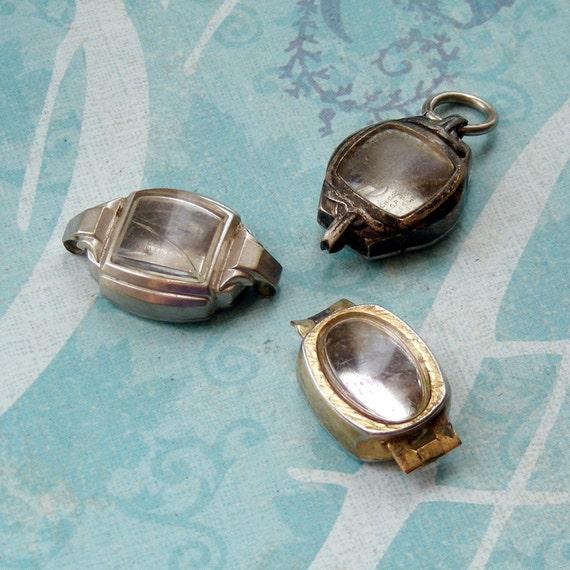 Three Vintage Watch Cases (WC1061)