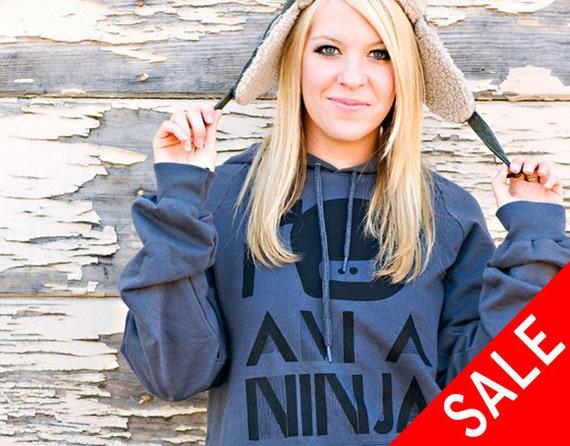 I Am A Ninja Hoodie Sweater - Asphalt - Unisex Sizes S