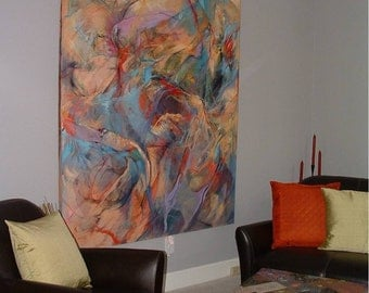 Very Large Original Abstract Painting Wall Size - Fine Art Inspired by Dance