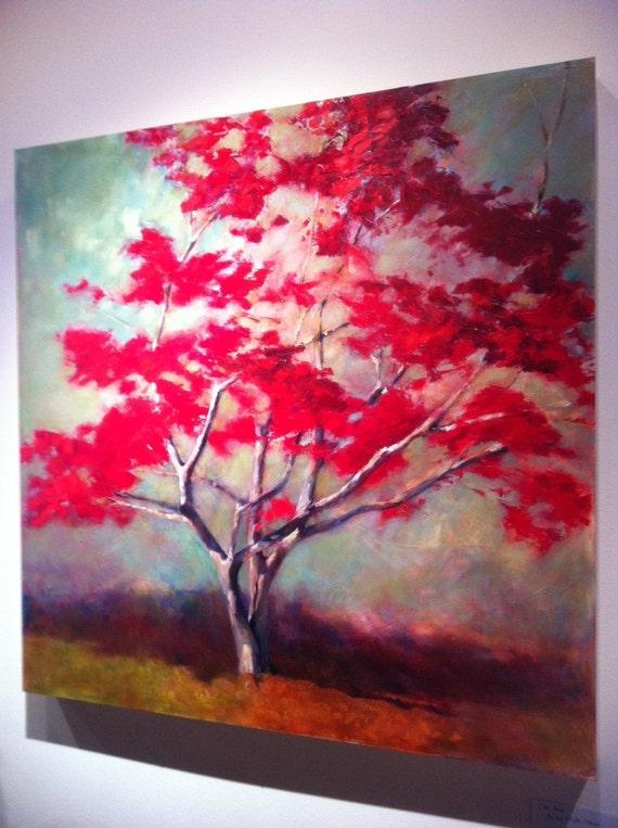 Red Maple Tree Paintings