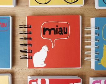 German Cat Little Blank Notebook