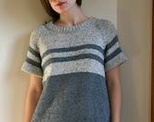 slate & grey striped sweater