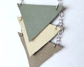Geometric Leather Necklace - AREjewellery
