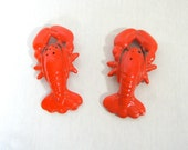 Lobster Salt and Pepper Shakers, Vintage Japan