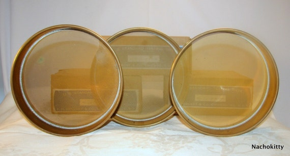 Copper Archaeology Sieves, Very Old, Archaeological Dig Equipment