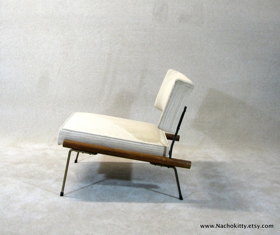 Reserved 1950s Mid Century Modern Chair Upholstery Wood
