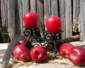 Set of 2  Apple Altar Candles