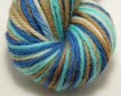 Hand-Dyed Peruvian Highland Bulky Weight Wool Yarn- The Blues and the Brown