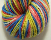 Hand-Dyed Worsted Yarn Peruvian Highland Wool- Primary 3 RESERVED FOR STEPHANIEWALKER11