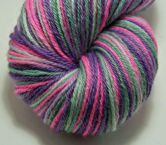 Hand-Painted Fingering (Sock) Yarn Merino Wool and Silk - Elecrtic