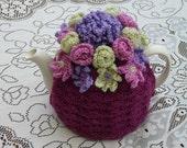 Crochet Tea Cosy/Cosie/Cozy Plum (Made to order)