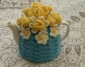 Tea Cosy Tea Cozy Teacosy Teacozy Cosy Cozy Crochet Blue (Made to order)