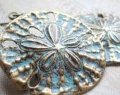 Relic - Treasure UnEarthed - Patina Brass Sand Dollar Earrings