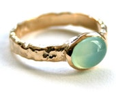 Reserved Listing for fleurtdemalakoff: Sunny - 10k Gold and Chalcedony Ring