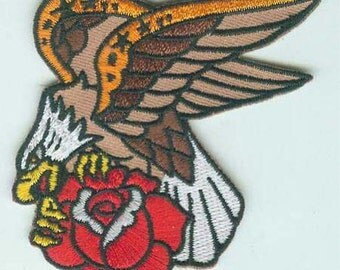 Embroidered american eagle Traditional tattoo iron on patch
