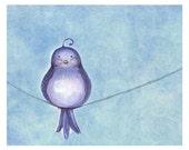 Chubby Bird Print