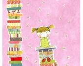 Book Love Print in Pink