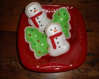 Snowman/Christmas Tree Felt Cookies