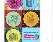 Kawaii Cute Vintage Camera Embroidery Patterns