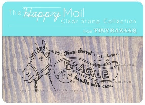 Happy Mail Clear Stamp Collection - Fragile Stamp
